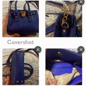 Michael Kors blue mini-purse